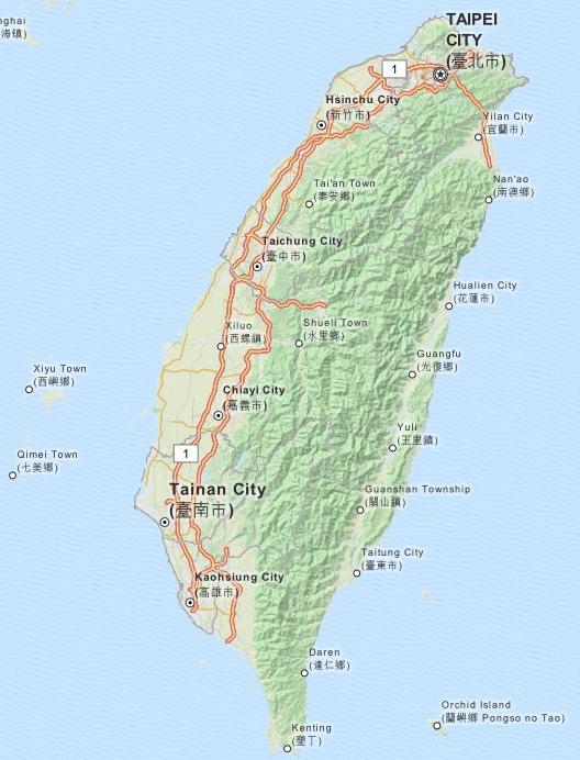 Taiwankarte